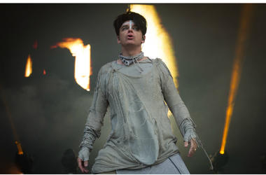 Gary Numan performs live on stage on day 2 of Bluedot Festival