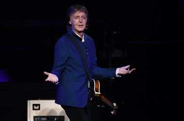 Paul McCartney performs at wedding