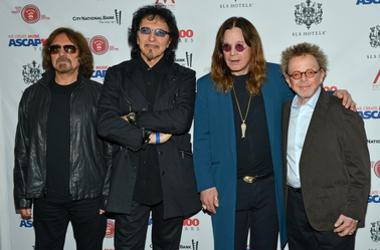 Geezer Butler, Tony Iommi, Ozzy Osbourne and Paul Williams