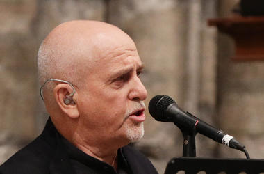 Peter Gabriel performs