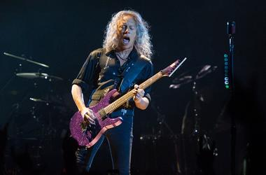 Kirk Hammett of Metallica performing