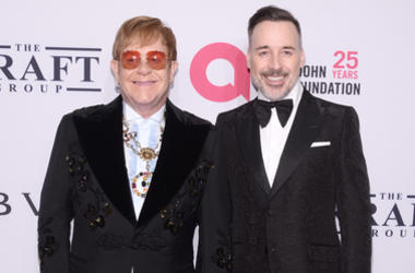 Sir Elton John and David Furnish attend the Elton John AIDS Foundation's 17th Annual An Enduring Vision Benefit at Cipriani 42nd Street in New York, NY, on November 5, 2018.