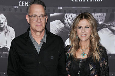 Tom Hanks and Rita Wilson arrives at the JONI 75: A Birthday Celebration held at the Dorothy Chandler Pavilion in Los Ange;e, CA Wednesday, ​November 7, 2018.
