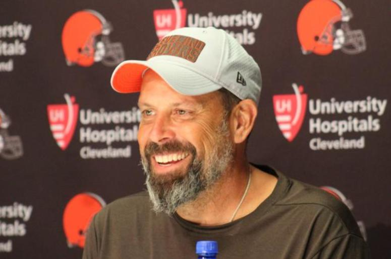 Browns offensive coordinator Todd Haley speak with reporters on Sept. 6, 2018