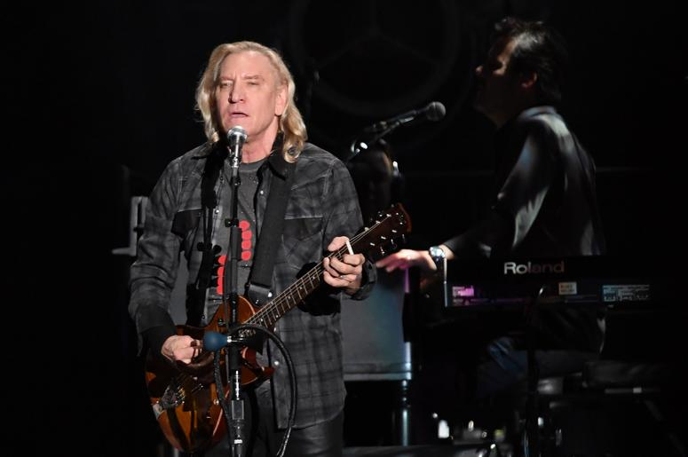 Recording artist Joe Walsh of The Eagles performs at the Hard Rock Stadium.