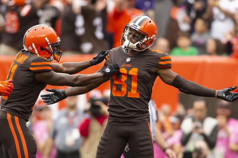 Browns notes  Rashard Higgins aims for quick return from MCL sprain 3276b8e19