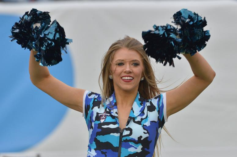 Tennessee Titans Cheerleaders perform following a game between the Tennessee Titans and the New England Patriots at Nissan Stadium. Tennessee won 34-10.