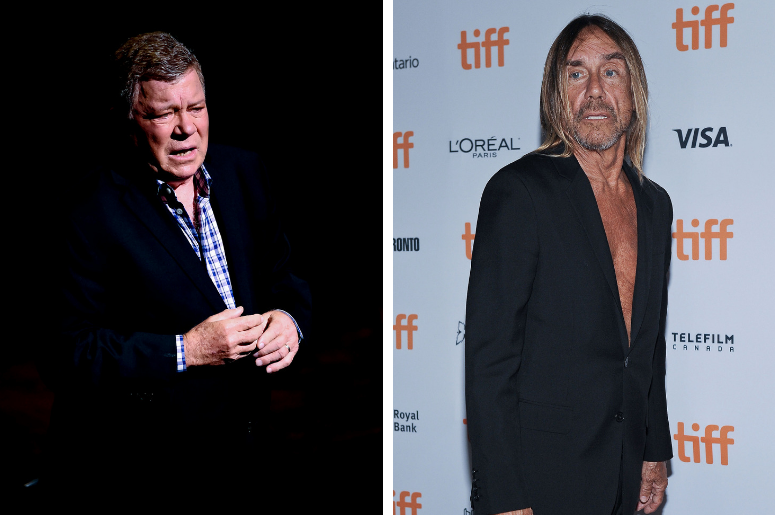 "William Shatner performs in Shatner's World at the Kravis Center. / Iggy Pop. ""Gimme Danger"" Premiere during the 2016 Toronto International Film Festival held at Ryerson Theatre."