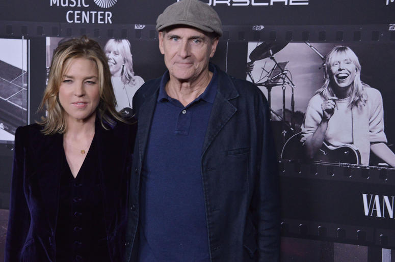 Diana Krall and James Taylor at the JONI 75: A Birthday Celebration held at the Dorothy Chandler Pavilion in Los Ange;e, CA Wednesday, ​November 7, 2018.
