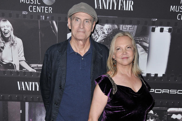 James Taylor and Caroline Smedvig arrives at the JONI 75: A Birthday Celebration held at the Dorothy Chandler Pavilion in Los Ange;e, CA Wednesday, ​November 7, 2018.