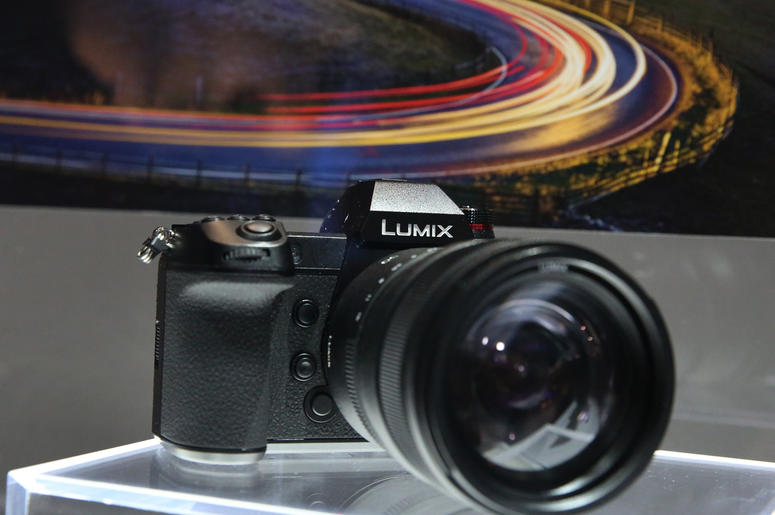 Lumix full Fram mirrorless camera is displayed during the 2019 Consumer Electronics Show (CES) at the Las Vegas Convention Center on Tuesday, Jan. 8, 2019, in Las Vegas, Nevada.