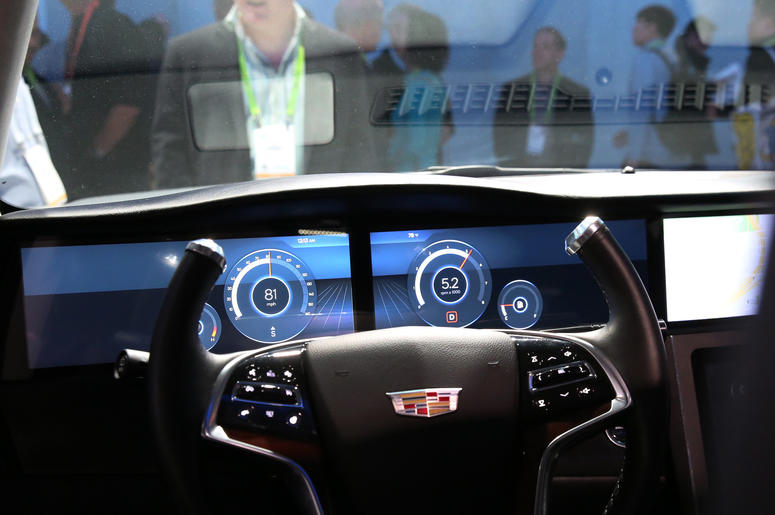 Car cockpit shown off by Qualcomm snapdragon during the 2019 Consumer Electronics Show (CES) at the Las Vegas Convention Center on Tuesday, Jan. 8, 2019, in Las Vegas, Nevada.