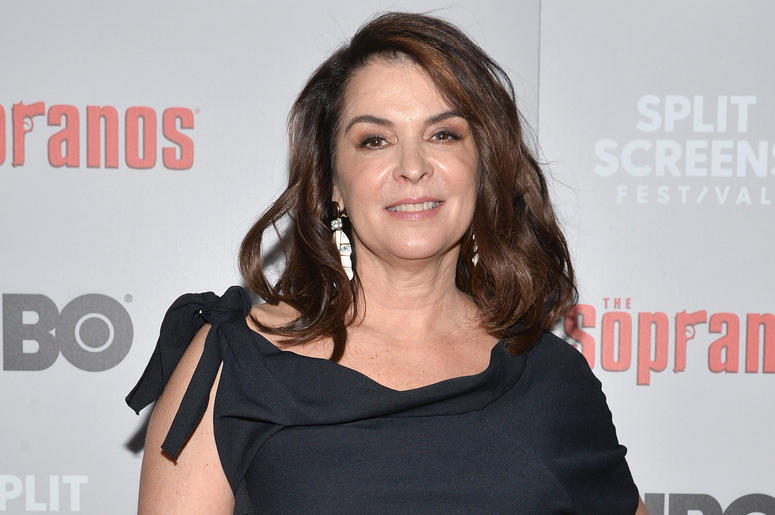 Actress Annabella Sciorra attends The Sopranos 20th Anniversary Red carpet and Panel Discussion during the Sopranos Film Festival at SVA Theatre in New York, NY, January 9, 2019.