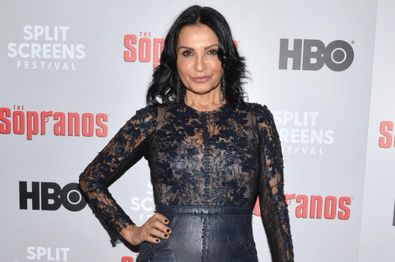 Actress Kathrine Narducci attends The Sopranos 20th Anniversary Red carpet and Panel Discussion during the Sopranos Film Festival at SVA Theatre in New York, NY, January 9, 2019.