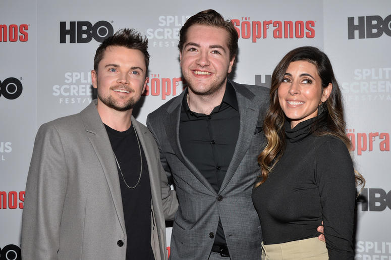 Robert Iler, Michael Gandolfini and Jamie-Lynn Sigler attend The Sopranos 20th Anniversary Red carpet and Panel Discussion during the Sopranos Film Festival at SVA Theatre in New York, NY, January 9, 2019.