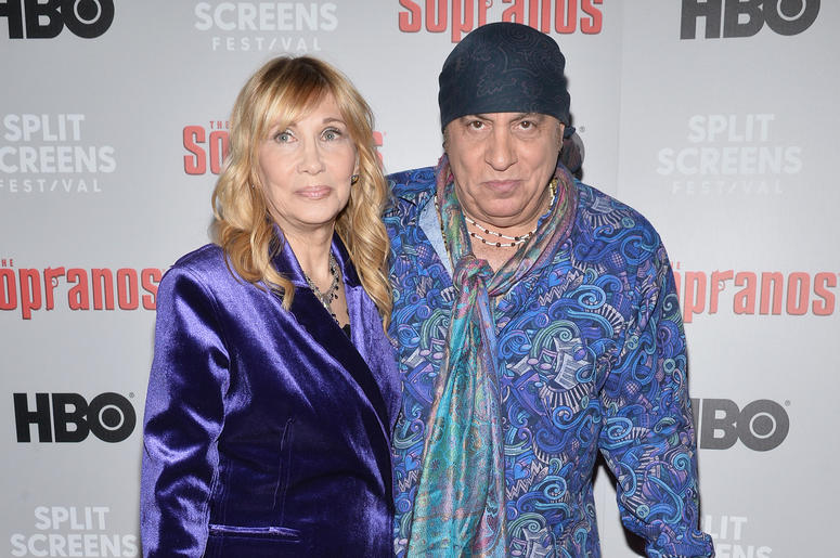 Maureen Van Zandt and Steven Van Zandt attend The Sopranos 20th Anniversary Red carpet and Panel Discussion during the Sopranos Film Festival at SVA Theatre in New York, NY, January 9, 2019.
