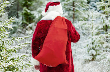 """Day 7: Jolly Jim's Sack is Overflowing for Our 12 Days of Christmas Giving! What """"gift"""" did Jean Reiche of De Forest find in there?"""