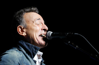 Bruce Springsteen performs on stage at the 12th Annual Stand Up For Heroes event in 2018