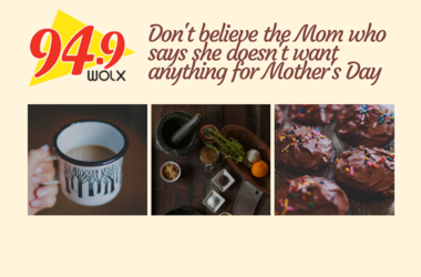 """LISTEN:  If you, or a Mom you know says, """"I don't want anything for Mother's Day,"""" a new survey shows -- you, or a Mom you know -- isn't telling the truth!  Jim and Teri talk about it, and offer 3 easy gift ideas as suggested in the survey."""
