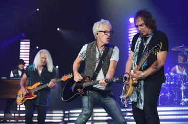 July 19, 2017; West Palm Beach, FL, USA; REO Speedwagon performs at the Perfect Vodka Amphitheatre.