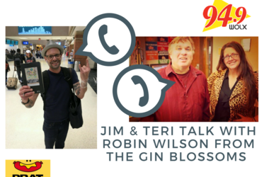 Our (funny) conversation with Robin Wilson of the Gin Blossoms. His thoughts on Brat Fest, Wisconsin & When He 1st Heard His Song on the Radio