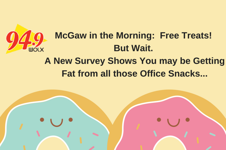 "LISTEN:  Are the ""free treats"" at work making you fat? Jim & Teri talk about it"