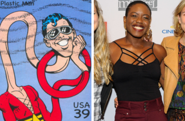 Stamp printed by United states, shows Plastic Man, circa 2006 / Writer Amanda Idoko attends the Mongrel Media Celebrates TIFF At Mongrel House on September 7, 2018 in Toronto, Canada.