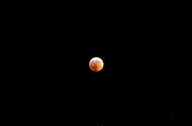 Jan 20, 2019; Harleysville, PA, USA; A view of the Super Blood Wolf Moon. Mandatory credit: James Lang-USA TODAY Network