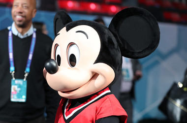 Feb 15, 2019; Charlotte, NC, USA; Disney character Mickey Mouse on the court before the game between the Home Team and the Away Team at Bojangles Coliseum . Mandatory Credit: Jim Dedmon-USA TODAY Sports