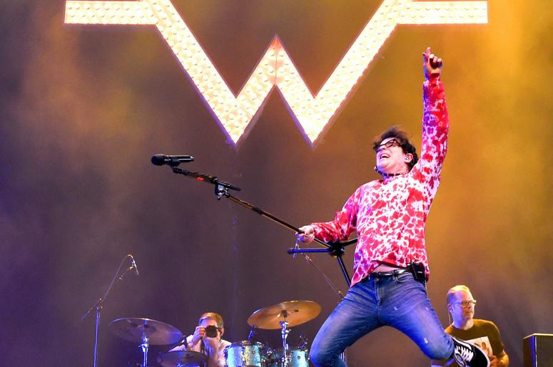 INDIO, CA - APRIL 13: Rivers Cuomo of Weezer performs at Coachella Stage during the 2019 Coachella Valley Music And Arts Festival on April 13, 2019 in Indio, California. (Photo by Kevin Winter/Getty Images for Coachella)