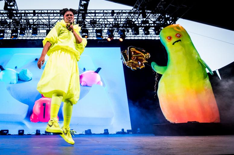INDIO, CALIFORNIA - APRIL 12: Tierra Whack performs at the Mojave tent during the 2019 Coachella Valley Music And Arts Festival on April 12, 2019 in Indio, California. (Photo by Rich Fury/Getty Images for Coachella)