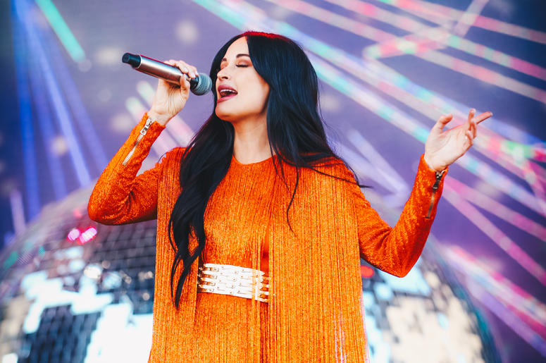 INDIO, CALIFORNIA - APRIL 12: (EDITORS NOTE: Image has been processed using digital filters.) Kacey Musgraves performs on Coachella Stage during the 2019 Coachella Valley Music And Arts Festival on April 12, 2019 in Indio, California. (Photo by Rich Fury/