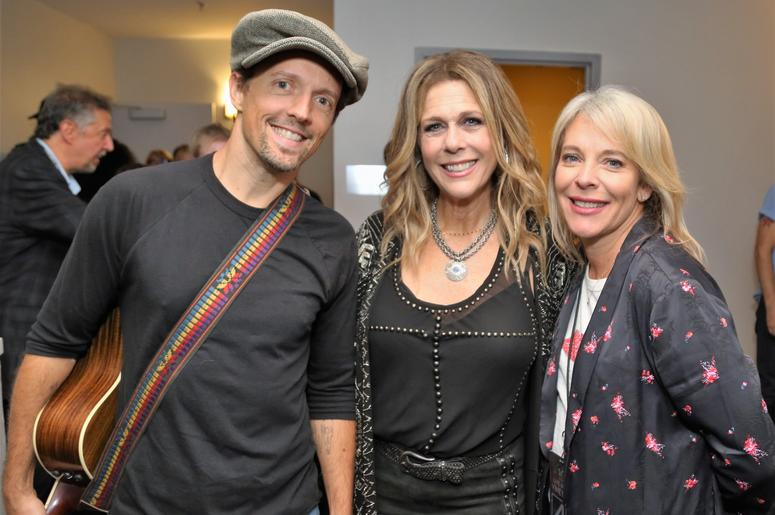 Jason Mraz, Rita Wilson, and LITV CEO Bobbii Jacobs at Lincoln Theater Nov. 3rd during the 10th Anniversary Live In The Vineyard. Photo Credit: Will Bucquoy, Live In The Vineyard
