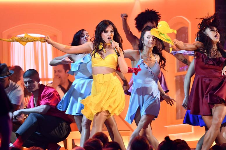February 10, 2019; Los Angeles, CA, USA; Camila Cabello performs Havana during the 61st Annual GRAMMY Awards on Feb. 10, 2019 at STAPLES Center in Los Angeles, Calif. Mandatory Credit: Robert Hanashiro-USA TODAY NETWORK