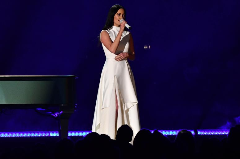 February 10, 2019; Los Angeles, CA, USA; Kacey Musgraves performs during the 61st Annual GRAMMY Awards on Feb. 10, 2019 at STAPLES Center in Los Angeles, Calif. Mandatory Credit: Robert Hanashiro-USA TODAY NETWORK