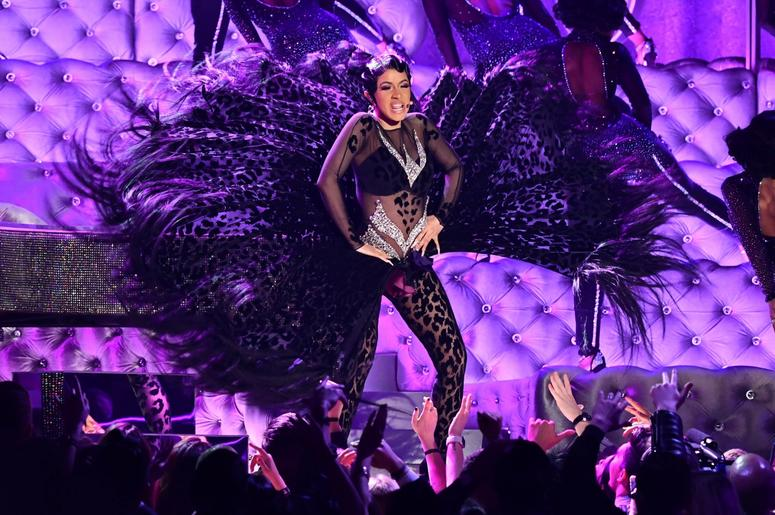 "February 10, 2019; Los Angeles, CA, USA; Cardi B performs ""Money\"" during the 61st Annual GRAMMY Awards on Feb. 10, 2019 at STAPLES Center in Los Angeles, Calif. Mandatory Credit: Robert Hanashiro-USA TODAY NETWORK"