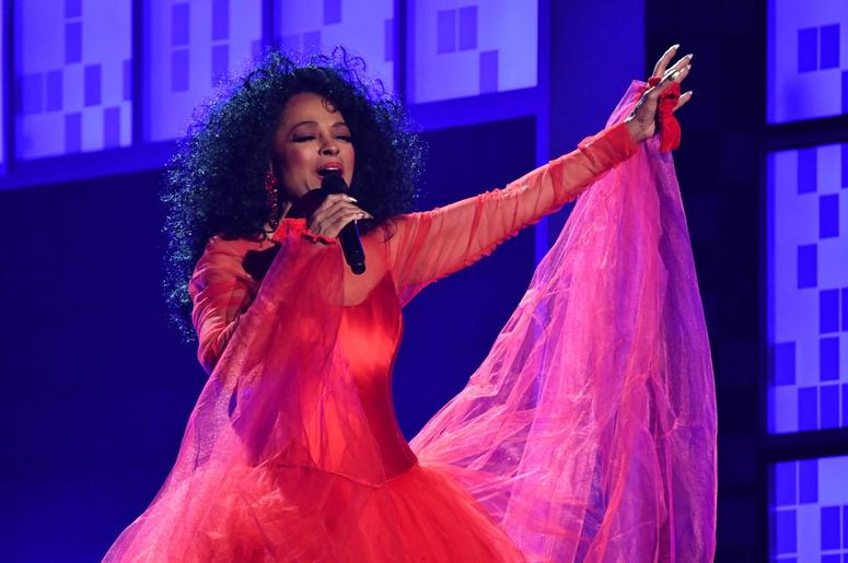 February 10, 2019; Los Angeles, CA, USA; Diana Ross performs during a tribute segment at the 61st Annual GRAMMY Awards on Feb. 10, 2019 at STAPLES Center in Los Angeles, Calif. Mandatory Credit: Robert Hanashiro-USA TODAY NETWORK