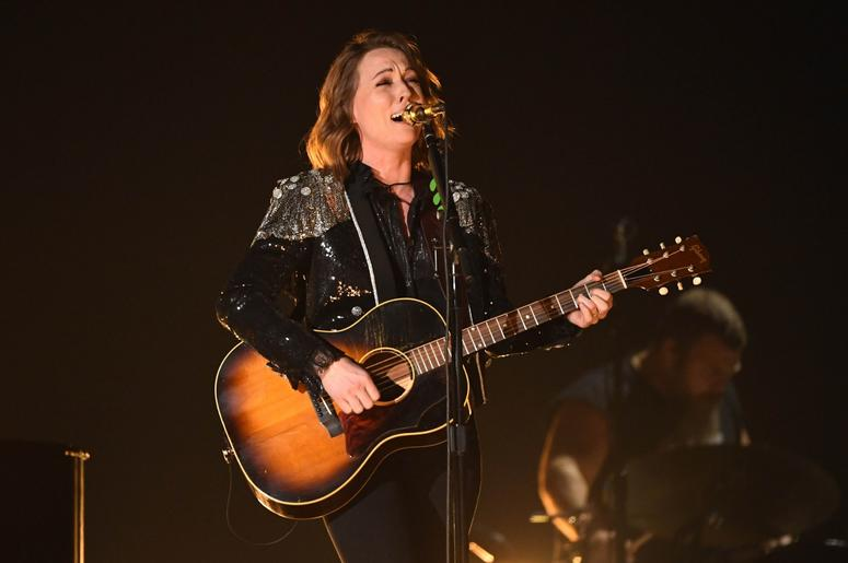 "February 10, 2019; Los Angeles, CA, USA; Brandi Carlile performs ""The Joke\"" during the 61st Annual GRAMMY Awards on Feb. 10, 2019 at STAPLES Center in Los Angeles, Calif. Mandatory Credit: Robert Hanashiro-USA TODAY NETWORK"