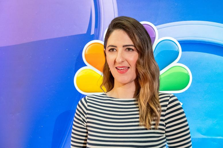 D'Arcy Carde fromTHE GOOD PLACE is seen on the red carpet during the NBC Fall Junket at the Four Seasons Hotel in New York, NY on September 6, 2018.