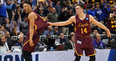 Loyola's Marques Townes, left, and Ben Richardson