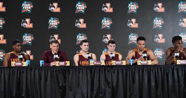 The Loyola Ramblers speak at a Final Four Friday press conference.