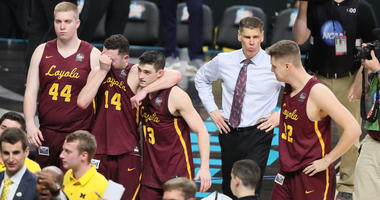 The Loyola Ramblers leave the floor after their Final Four loss.