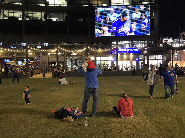 Gallagher Way during the Cubs game