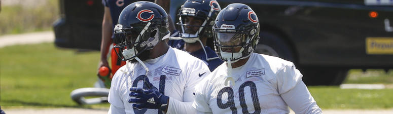 Bears defensive linemen Eddie Goldman, left, and Jonathan Bullard, right.