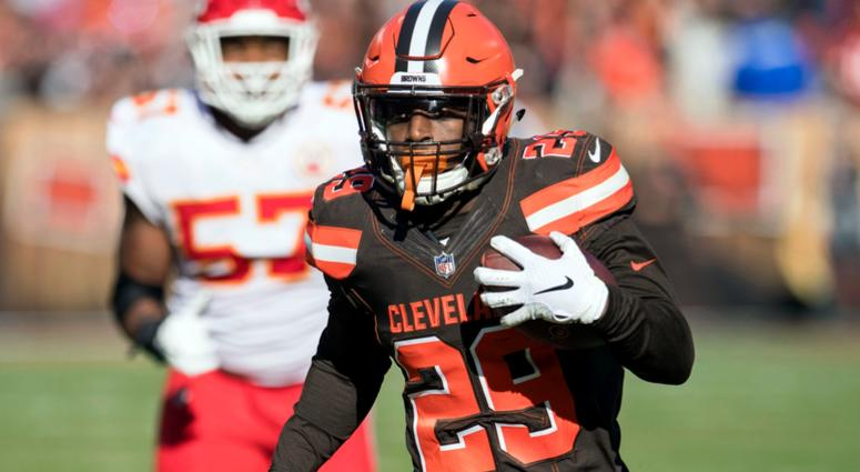 Browns running back Duke Johnson