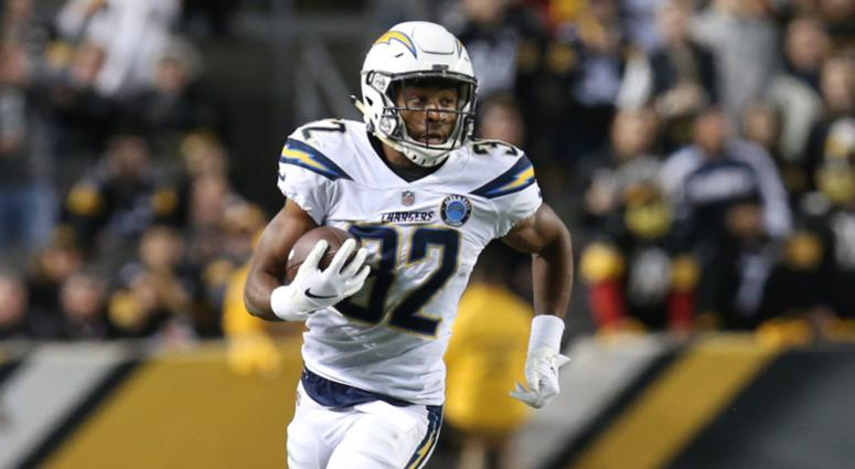 Chargers running back Justin Jackson
