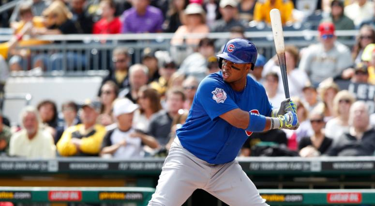 Luis Valbuena with the Cubs in 2014