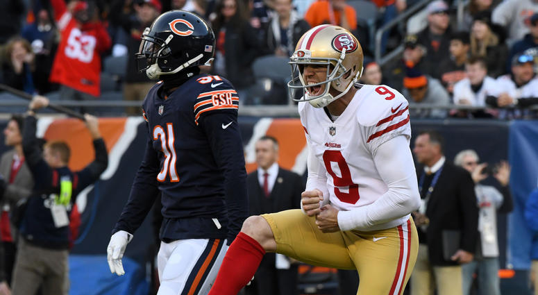 Robbie Gould, right