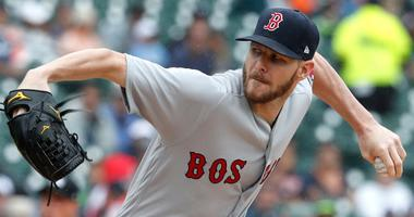 Red Sox left-hander Chris Sale