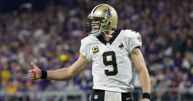Saints quarterback Drew Brees
